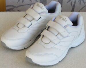 9-5-D-Wide-Etonic-DrX-Women-White-Leather-Walking-Comfort-Athletic-Sneaker