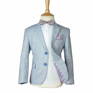 Image Is Loading Boys Navy Blue Linen Casual Suits Page Boy