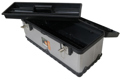 NEW STAINLESS STEEL TOOL BOX METAL HEAVY DUTY GARAGE STORAGE CHEST TOOLS DIY