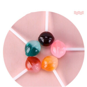 5x-Dollhouse-Miniature-Resin-Simulation-Food-Miniature-Lollipops-Candy-Model-FT