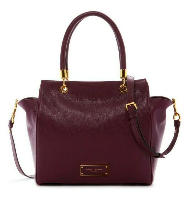 20aec7aa7d Marc Jacobs Too Hot to Handle Bentley Pebbled Leather Tote Bag in Fig