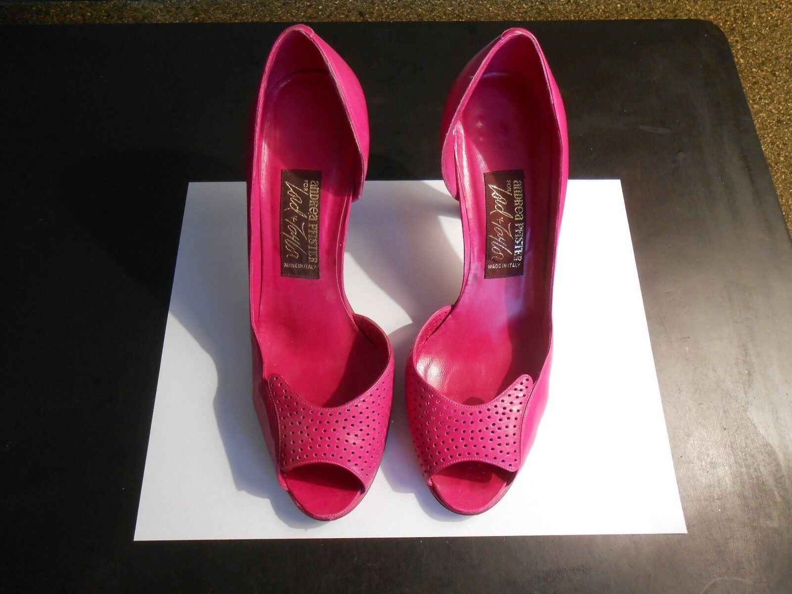 marchio in liquidazione ANDREA PFISTER (MADE (MADE (MADE IN ITALY) rosa OPEN TOE PUMPS--6 1 2M  vendita scontata online di factory outlet