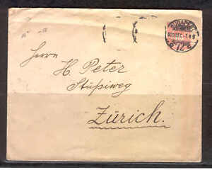 Stationery-P58-Hungary-1909-old-Cover-U-16-B-used-to-Zurich-Switzerland-Fine-use
