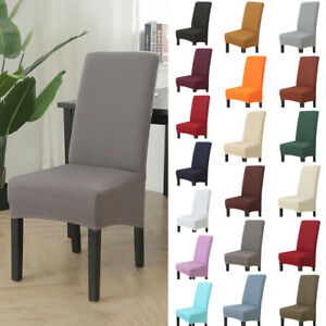 Dining Room Chair Covers Washable Knit Stretch Removable Chair Slipcovers Uk Ebay