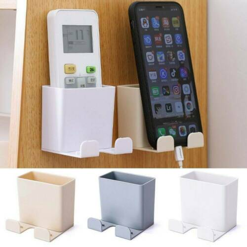 V Air Conditioner Remote Control Holder Case Mobile Phone Wall Mount Storage Box