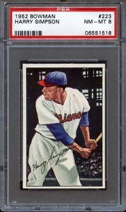 1952-Bowman-HARRY-SIMPSON-223-Cleveland-Indians-PSA-8