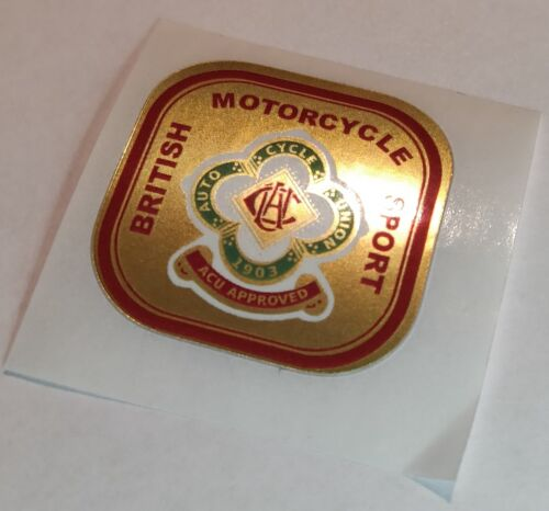 DOT 1 x BMS ACU GOLD sticker Aufkleber Etikett etichetta klistremerke