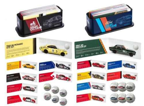 2018 SET OF 14 50c COINS FORD & HOLDEN MOTORSPORT TIN COLLECTION RAM SOLD OUT