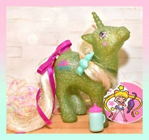 ❤️My Little Pony MLP G1 Vtg MAIL ORDER Star Hopper White Hair Glitter Unicorn❤️