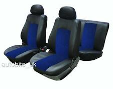 UNIVERSAL CAR SEAT COVER SET (6 Pieces) Black/Blue Washable & Airbag Compatible