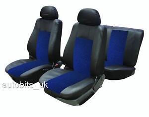 Noir-Bleu-Tissu-Complet-Housse-de-siege-voiture-Kit-pour-Citroen-Xsara-Picasso