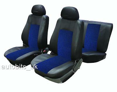 FULL SEAT COVERS SET PROTECTORS BLUE BLACK FOR VAUXHALL CORSA ASTRA VECTRA