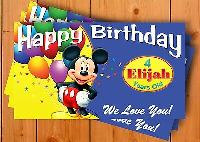 Mickey Minnie Mouse Birthday Banner Personalized Custom Design Indoor Outdoor Ebay