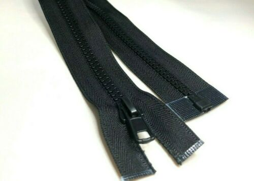 from 10 cm to 500 cm Black Chunky No.5 Plastic Zipper Open /& Closed End Zip