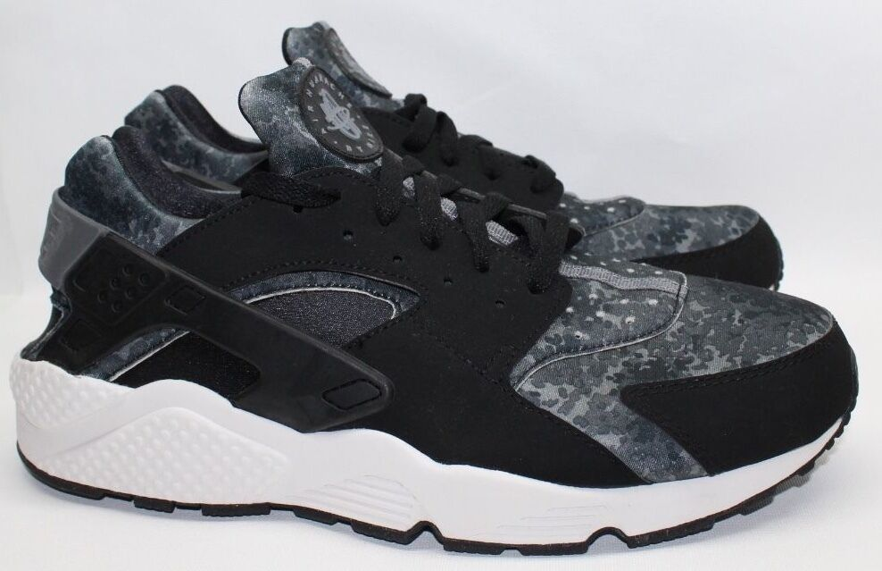 Nike Air Huarache Black Grey Camo Bnib Mens Trainers 318429 015 US Size 12