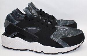 new product 4444a b1142 Image is loading Nike-Air-Huarache-Black-Grey-Camo-Bnib-Mens-