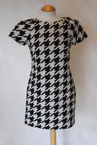 COAST-Black-White-Houndstooth-Shift-Dress-Minidress-UK-8