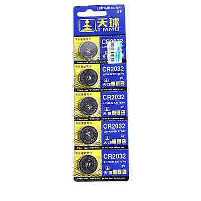 3V CR2032 DL2032 LM2032 Button Cell Coin Battery for Watch Toys Remote CB 5PCS