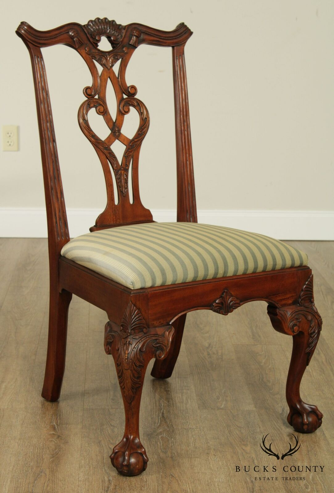 Henredon Rittenhouse Square Mahogany Chippendale Dining Side Chairs Pair 3 For Sale Online Ebay