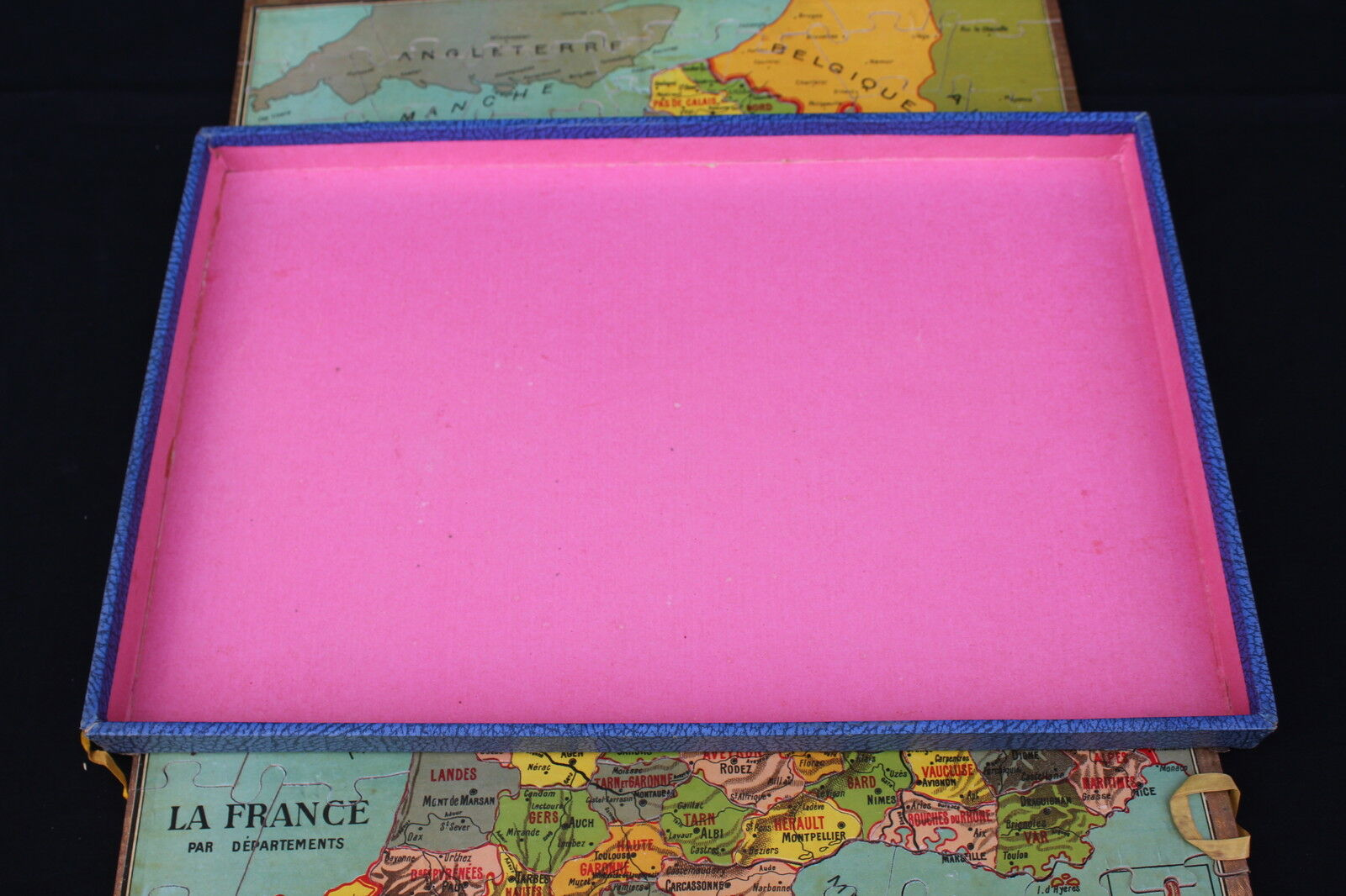Ancien Jeu puzzle bois La FRANCE FRANCE FRANCE par départeHommes ts patience géographie 51*42 XIX b87a25