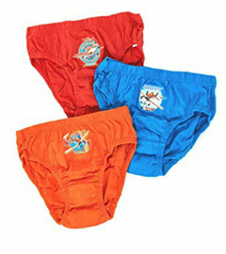 7-8 Years Planes Dusty 3 Pack Boy/'s Briefs Blue//Orange//Red