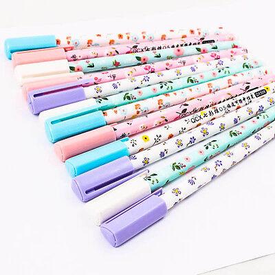 Korean Pattern Vintage 0.5mm RollerBall Pen Gel Black Ink Smooth Wholesale A0842