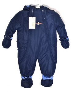 a634d671e FOURCAST Navy Blue Baby Infant Snowsuit (Size 6-12 Months) Fleece ...