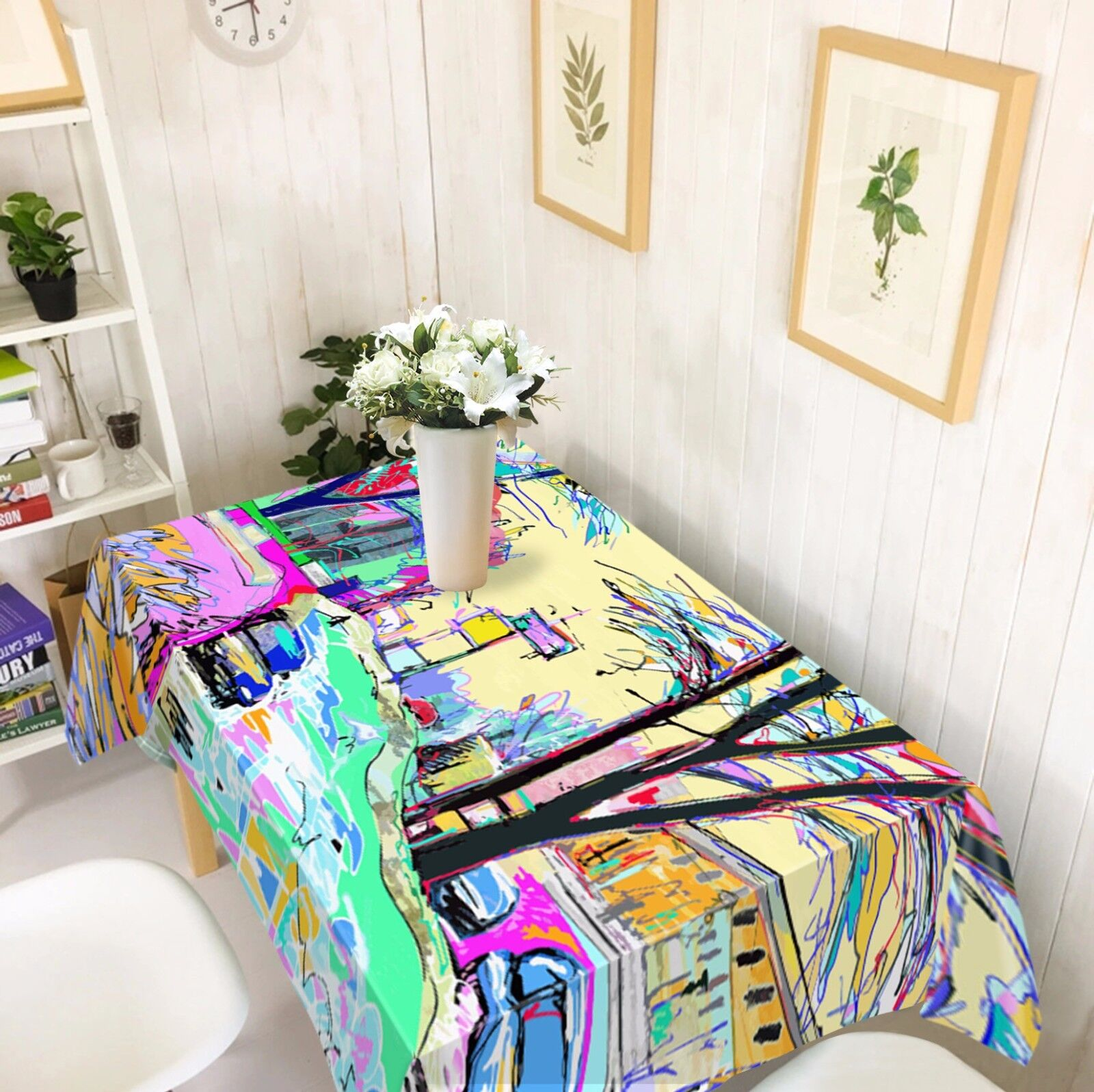 3D Paint 5 Tablecloth Table Cover Cloth Birthday Party AJ WALLPAPER UK Lemon