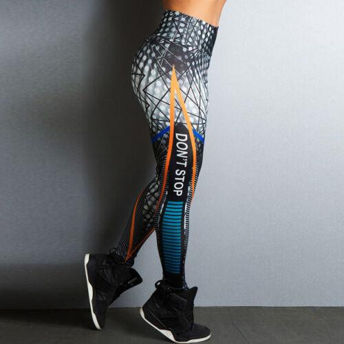 Women Multicolor Orange Stripe Pattern Sports Leggings