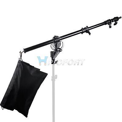 All Metal Heavy Duty Photography boom arm with Grip Head Clamp And Sandbag kit
