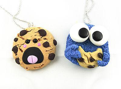 Beste Freunde Keks und Krümelmonster Cookie Monster BF Halskette Necklace Charm