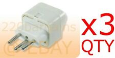 3PK Switzerland Travel Adapter Plug Type J Swiss Electrical Outlet 3 Prong