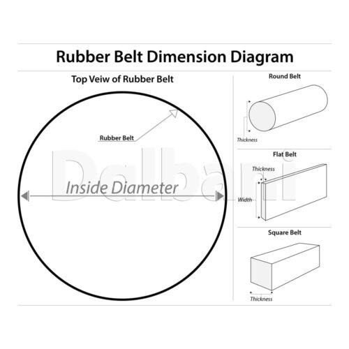 45mm Diameter 2.5mm Square Belt for VCR Cassette Tape Deck Arduino Gear Motor