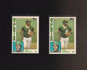 1984 Topps Traded #82T Joe Morgan Oakland Athletics Lot of 2