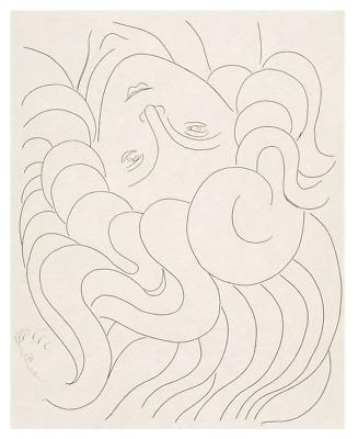 MODERN ART PRINT 1930-32 by Henri Matisse Woman Poster 11x14 Female Head