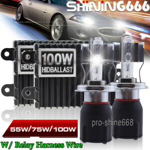 H1 55W 75W 100W HID Xenon Conversion KIT For Headlight High Beam Light 5K 6K 8K