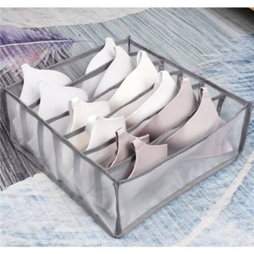 Storage Box Underwear Foldable Bra Organizer Underpants Box Drawer Compartment