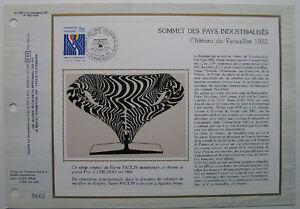 PIERRE-PAULIN-Feuillet-CEF-Timbre-1er-jour-SOIE-1982
