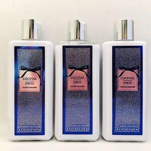3-Bath-amp-Body-Works-Cocktail-Dress-Body-Lotion-8-4-fl-oz-Crystal-Peonies-New