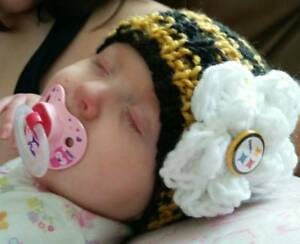 Image is loading Steelers-BABY-Hand-Knit-Pittsburgh-Football-Inspired-Baby- eb9f6460d