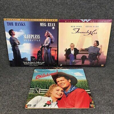 Lot Of 3 12 Laserdisc Movies French Kiss Sleepless In Seattle Oklahoma Ebay