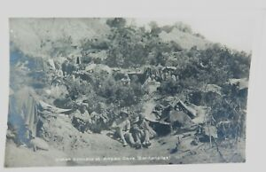 RARE-WW1-ANZAC-COVE-DARDANELLES-GALLIPOLI-REAL-PHOTO-POSTCARD-INDIAN-BIVOUACS