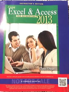 Details about Using Microsoft® Excel® and Access 2013 for Accounting by  Glenn Owen (2014,
