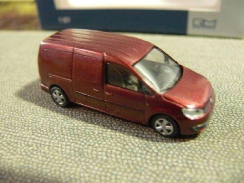 1//87 Rietze VW Caddy Maxi 11 recuadro weinrotmetallic 21850