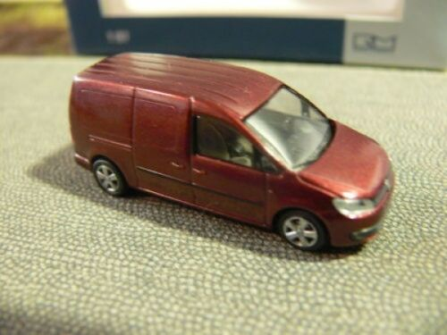 1//87 Rietze VW Caddy Maxi 11 Kasten weinrotmetallic 21850
