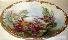 Antique  T&V  Limoges Porcelain  Floral   charger  signed Louise Chesnutt 1903
