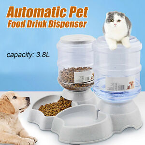 3-8L-Large-Automatic-Pet-Food-Drink-Dispenser-Dog-Cat-Feeder-Water-Bowl-Dish