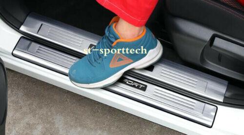 4PCS For Nissan Rogue Sport 2017-2018 Stainless Door External Sill Scuff Plate