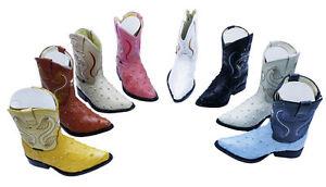 Kids-Toddler-Ostrich-Print-Genuine-Leather-Western-Cowboy-Boots-525-3x