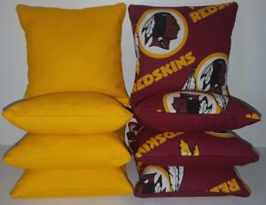 Outstanding Details About Set Of 8 All Weather Washington Redskins Cornhole Bean Bags Free Shipping Uwap Interior Chair Design Uwaporg